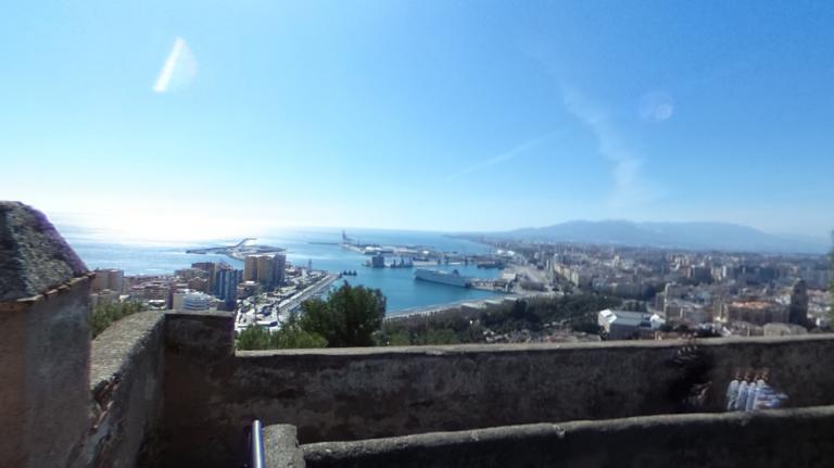 vistas desde castillo de gibralfaro