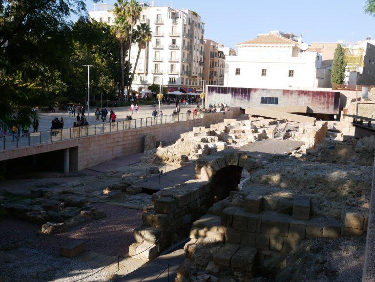 entrada teatro romano de Málaga