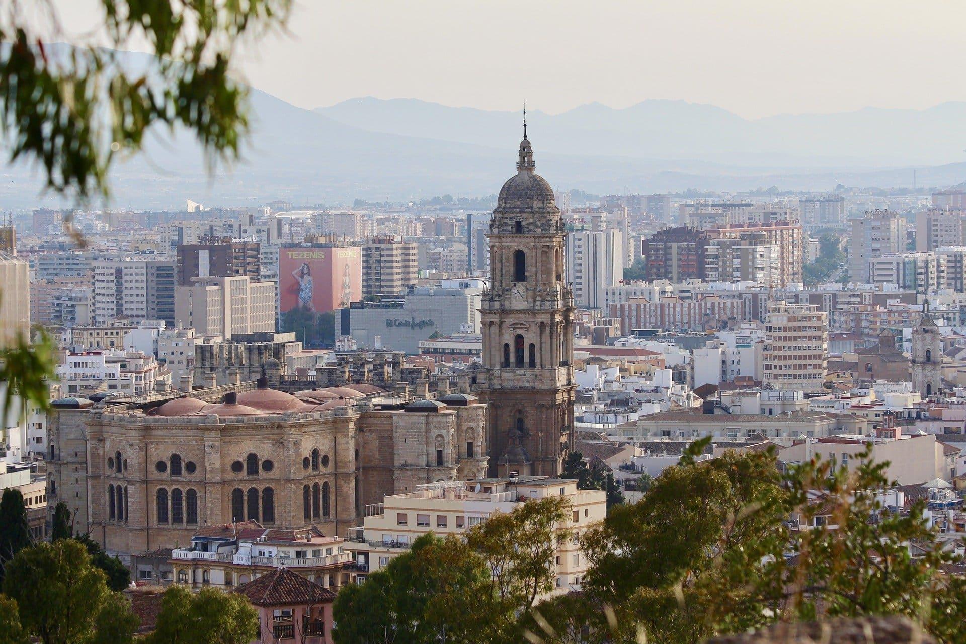 vistas desde catedral de malaga
